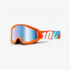 100% Strata Orange - Mirror Blue Lens