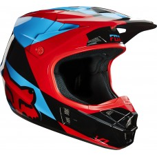 Fox V1 SALE Helmet Mako Blue/Red SALE