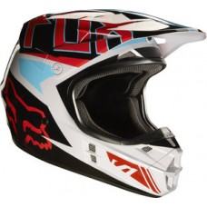 Fox V1 SALE Falcon Helmet Grey/Red