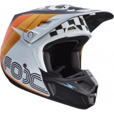 Fox V2 SALE Rohr Helmet White/Orange