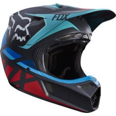 Fox V3 SALE Seca Helmet Grey/Red