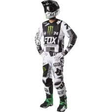 Fox 180 SALE Limited Edition Monster Pro Circuit Jeans/Shirt Black/White