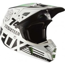Fox V2 Sale Union LE Monster Pro Circuit Helmet White/Black/Green In Stock