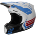 Fox V3 RWT LE Helmet White/Red/Blue Sale