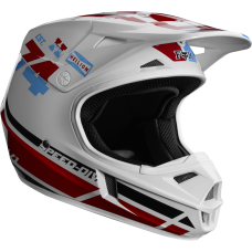 Fox V1 RWT SE Helmet White/Red/Blue