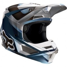Fox V1 MVRS Motif Helmet Blue/Grey