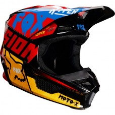 Fox V1 MVRS Czar Helmet Black and Yellow