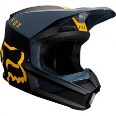 Fox V1 MVRS Mata Helmet Navy/Yellow