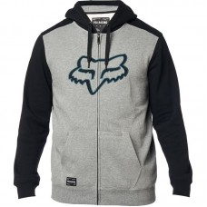 Fox 2020 Destrakt Zip Embroided Hoodie Graphite/Black SALE SAVE £20