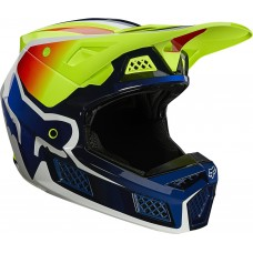 2021 Fox V3 RS Wired Helmet Flo Yellow
