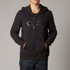SALE 50% OFF Fox Tract Zip Hoodie Black