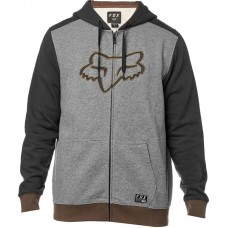 Fox Destrakt Zip Hoodie Heather Graphite SALE SAVE £30