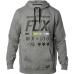 Fox Racing District 2 Pullover Hoodie Grey