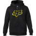 Fox Tracked Sherpa Zip Hoodie Black