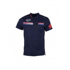 Fox Pit HRC Tech SS Polo Navy