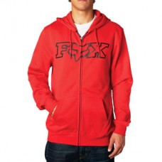 Fox Legacy FHead Zip front fleece hoody Red SALE