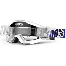 100% Strata Goggles/Roll Offs Ice Age White