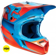 Fox V3 Flight Helmet Red/Blue Sale