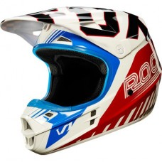 Fox V1 Fiend SE Helmet Blue/Red